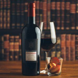 Flasche Rotwein Conte di Campiano Appassimento