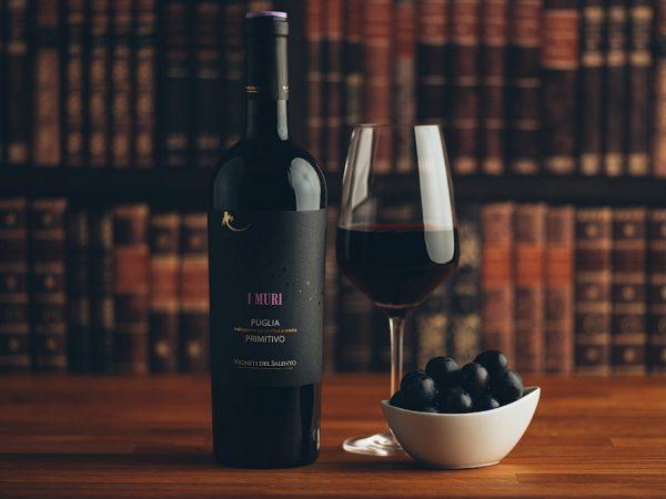 Flasche Rotwein I Muri Primitivo
