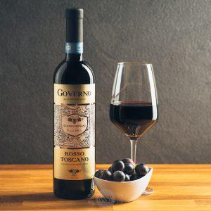 Flasche Rotwein Loggia dei Sani Governo Rosso Toscano