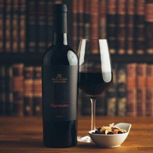 Flasche Rotwein Palazzo Pisano Ripensato R Rosso Veneto IGT