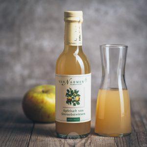 Flasche Van Nahmen Apfelsaft von Streuobstwiesen 250 ml