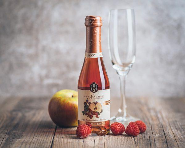 Flasche Van Nahmen Apfel Johannisbeere Himbeere Frucht Secco 200 ml