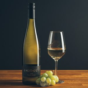 Flasche Weißwein Rivaner trocken
