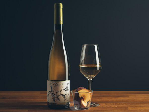 Flasche Weißwein Theo Minges Riesling Spätlese Froschkönig