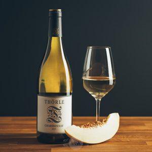 Flasche Weißwein Thörle Chardonnay