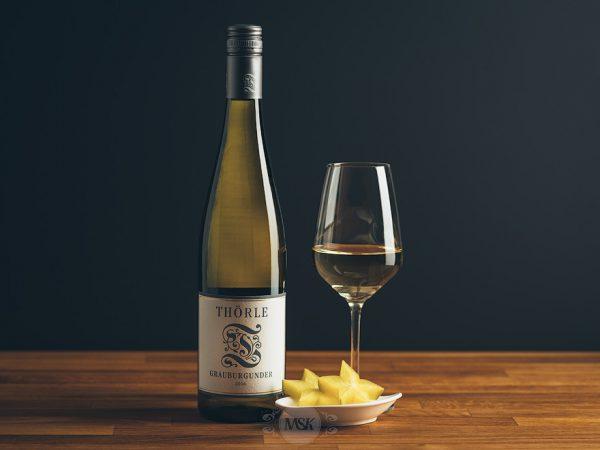 Flasche Weißwein Thörle Grauburgunder