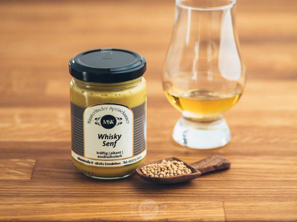 Glas Whisky Senf von der Münsterländer Speisekammer