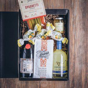 Präsentkorb Limoncello Box von der Münsterländer Speisekammer