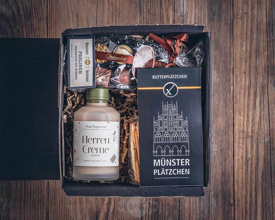 Präsent kleine Münsterland Box von der Münsterländer Speisekammer