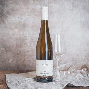 Flasche Weißwein Johannes Grauburgunder trocken
