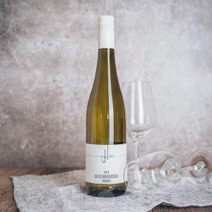 Flasche Weißwein Johannes Weißburgunder trocken