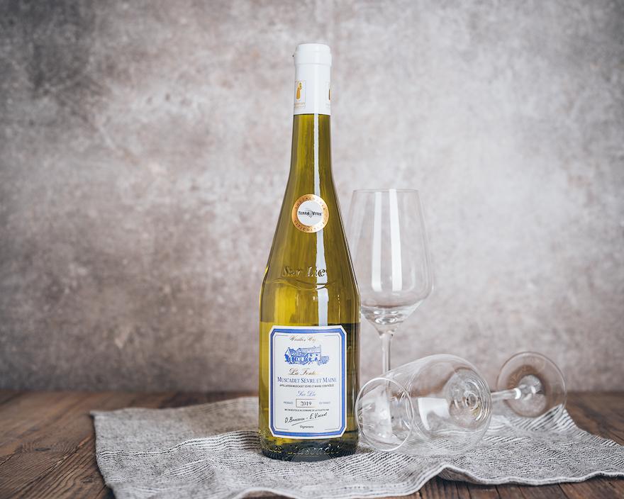 Flasche Weißwein Domaine de la Foliette Muscadet Sevre-et-Maine Sur Lie Clos de la Fontaine Vieilles Vignes